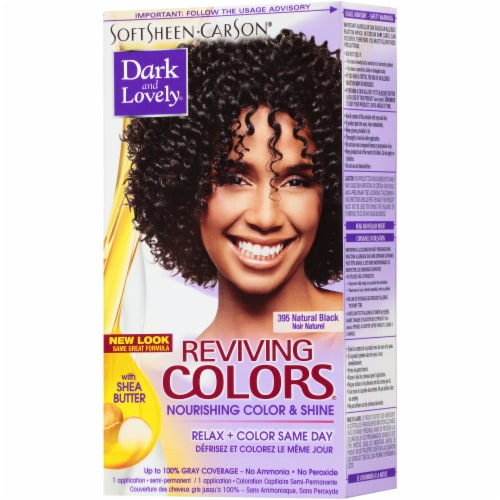 Dark & Lovely Reviving Colors 395 Natural Black Hair Color Perspective: right