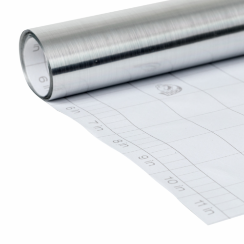 Duck® Deco Adhesive Laminate - Metallic Silver Perspective: right