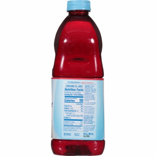 Old Orchard Healthy Balance Diet Apple Cranberry Flavored Juice Cocktail Blend Perspective: right