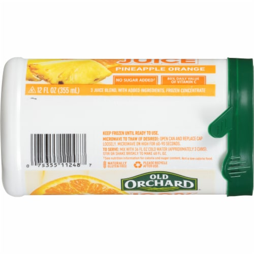 Old Orchard Pineapple Orange Juice Concentrate Perspective: right