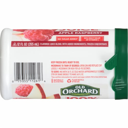 Old Orchard Apple Raspberry Juice Concentrate Perspective: right