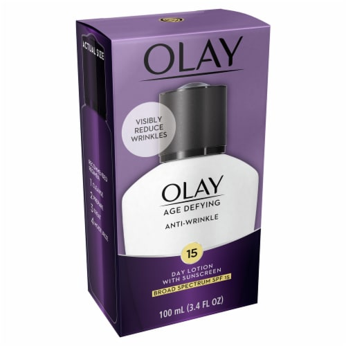 Olay Age Defying Anti-Wrinkle Day Face Lotion with Sunscreen SPF 15 Perspective: right
