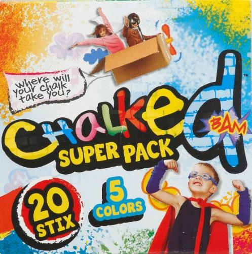 JA-RU Chalked Super Pack Sidewalk Chalk Perspective: right
