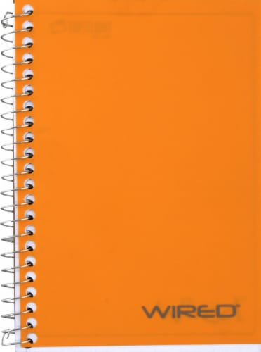 Top Flight Wired College Ruled Personal Notebook - 100 Sheets - Assorted Perspective: right