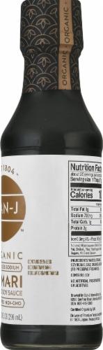 San-J Organic Reduced Sodium Tamari Soy Sauce Perspective: right
