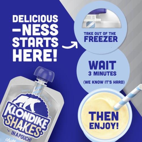Klondike Shakes Vanilla Milkshake Pouch Perspective: right