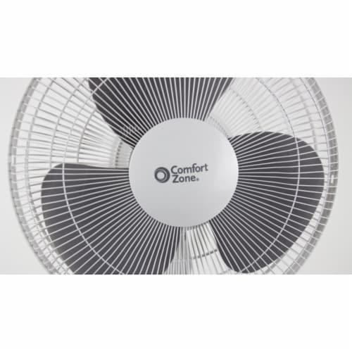 Comfort Zone Oscillating Pedestal Quad Pod Fan - White Perspective: right