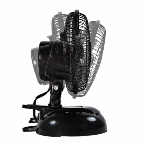 Comfort Zone Clip/Desk Combo Fan - Black Perspective: right
