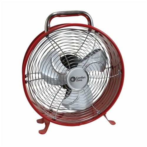 Comfort Zone Retro Utility Fan - Assorted Perspective: right