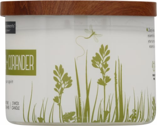 Candle-lite Essential Elements Lemongrass and Coriander Glass Jar Candle - White Perspective: right