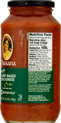 Paesana Hearty Plant-Based Bolognese Sauce Perspective: right
