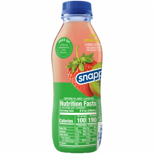 Snapple Kiwi Strawberry Juice Drink Perspective: right