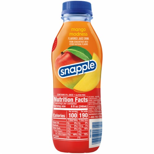 Snapple Mango Madness Juice Drink Perspective: right