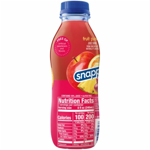 Snapple Fruit Punch Juice Drink Perspective: right