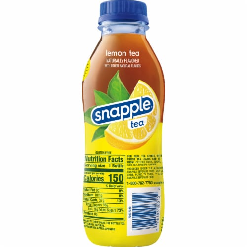 Snapple All Natural Lemon Tea Drink Perspective: right