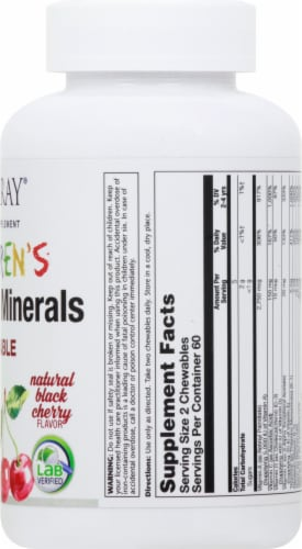Solaray Children's Natural Black Cherry Vitamin & Mineral Chewables 120 Count Perspective: right