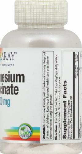 Solaray Magnesium Glycinate VegCaps 400mg Perspective: right