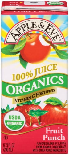 Apple & Eve Organic Fruit Punch Juice Boxes Perspective: right