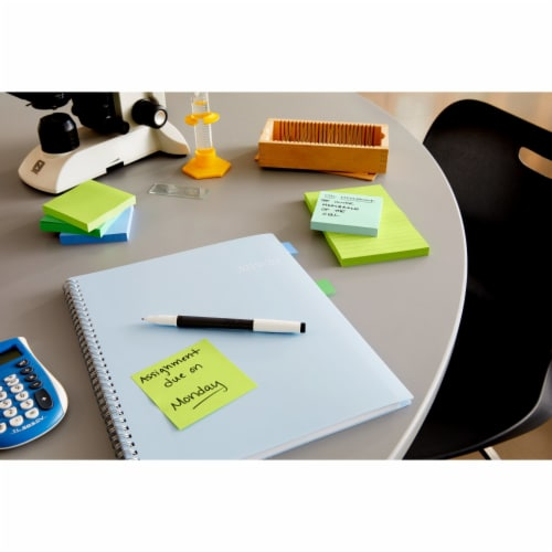 Post-it® Super Sticky Notes Cube - Assorted Perspective: right