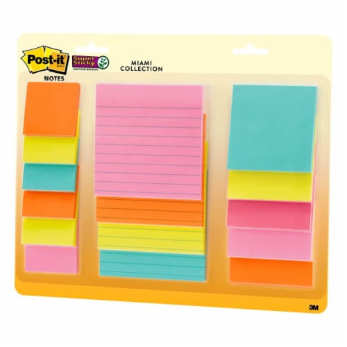Post-it®  Super Sticky Notes - 15 Pack - Assorted Perspective: right