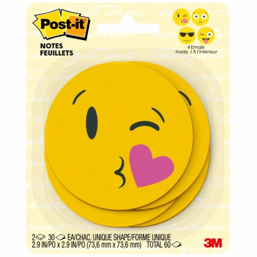 Post-it® Emoji Printed Notes -  2 pack Perspective: right