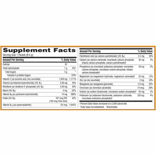 Emergen-C Cranberry-Pomegranate Dietary Supplement Fizzy Drink Mix Perspective: right