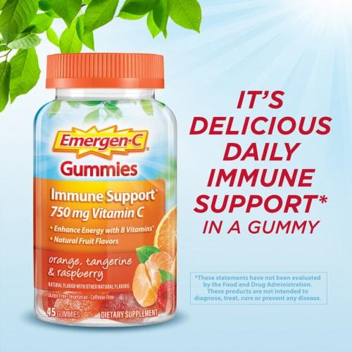 Emergen-C Orange Tangerine and Raspberry Core Gummies Perspective: right