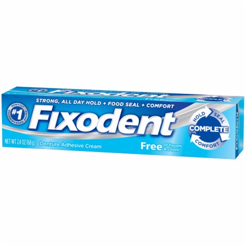 Fixodent Flavor Free Denture Adhesive Cream Perspective: right