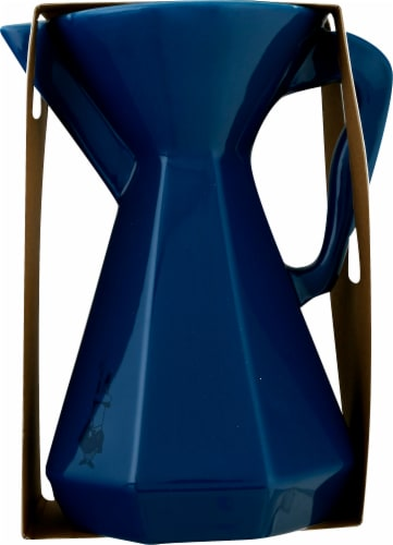 Bialetti Ceramic Pourover Carafe - Blue Perspective: right