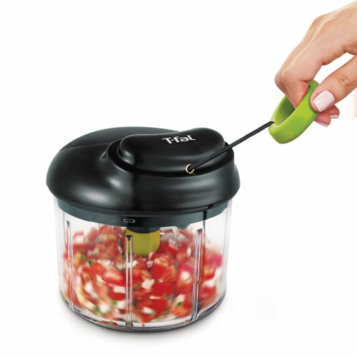 T-Fal 4 Cup Rapid Chopper Easy Hand Pull Manual Food Processor Vegetable Dicer Perspective: right
