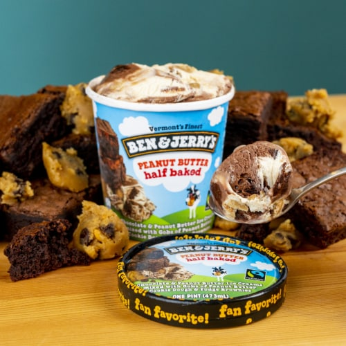 Ben & Jerry's Peanut Butter Half Baked Ice Cream Perspective: right