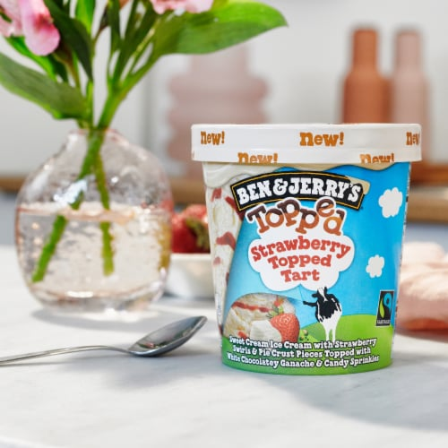 Ben & Jerry's Topped Strawberry Tart Ice Cream Perspective: right