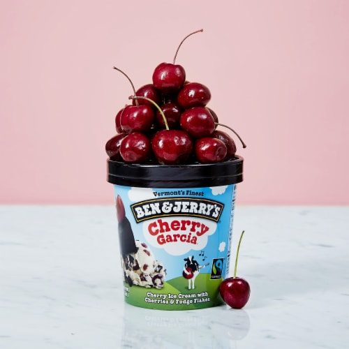 Ben & Jerry's Cherry Garcia Ice Cream Perspective: right