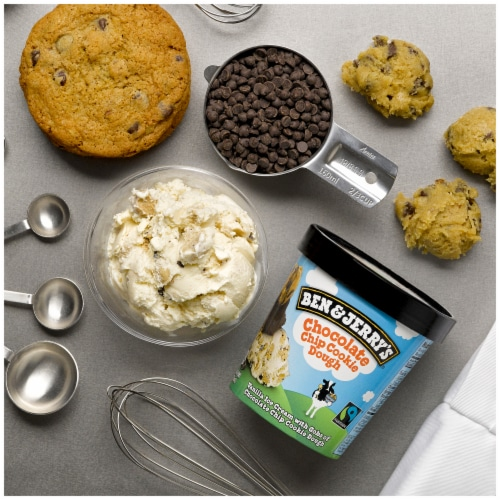 Ben & Jerry's Chocolate Chip Cookie Dough Ice Cream Perspective: right