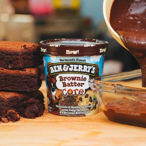 Ben & Jerry's Ice Cream Brownie Batter Core 1 PT Perspective: right