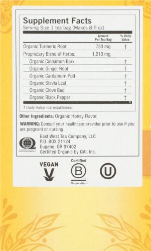 Yogi Organic Caffine Free Honey Chai Tumeric Vitality Tea Bags Perspective: right