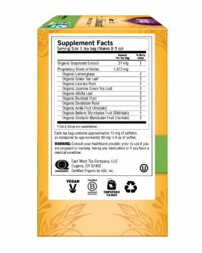 Yogi Super Antioxidant Caffeine Free Green Tea Bags Perspective: right