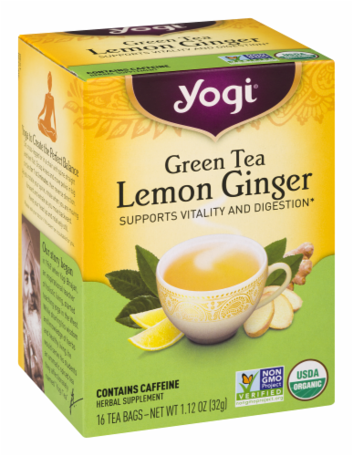 Yogi Lemon Ginger Green Tea Perspective: right
