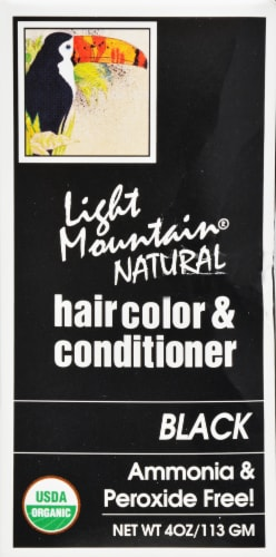 Light Mountain Natural Black Hair Color & Conditioner Perspective: right