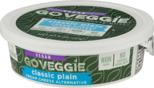 Go Veggie Vegan Classic Plain Cream Cheese Alternative Perspective: right