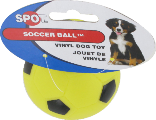 Spot Soccer Ball Vinyl Dog Toy Perspective: right
