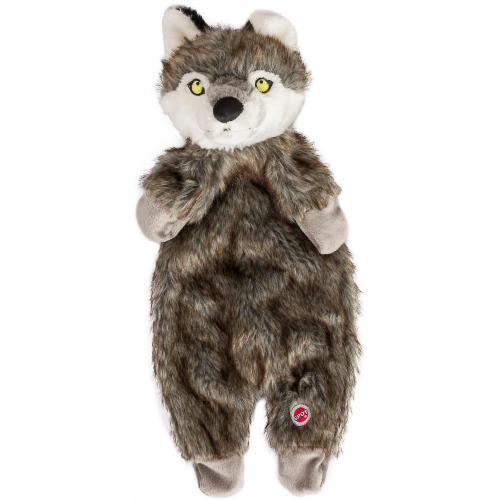 Spot Furzz Wolf Plush Dog Toy Perspective: right