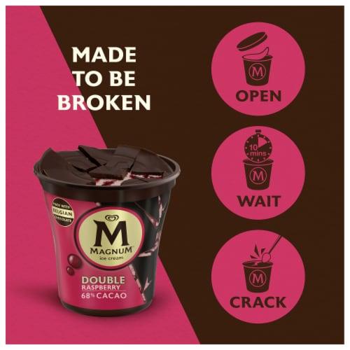 Magnum Dark Chocolate Raspberry Ice Cream Perspective: right