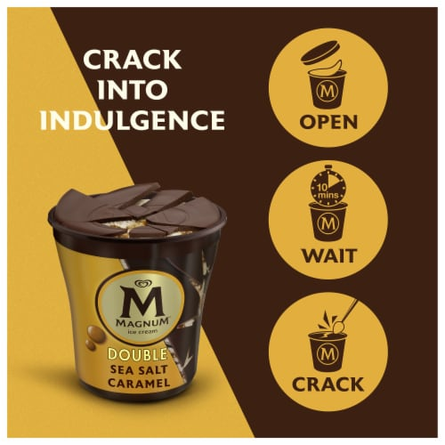 Magnum Double Sea Salt Caramel Ice Cream Perspective: right