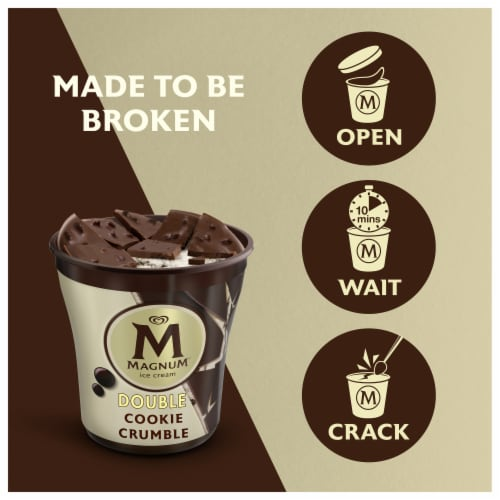 Magnum® Double Cookie Crumble Ice Cream Perspective: right