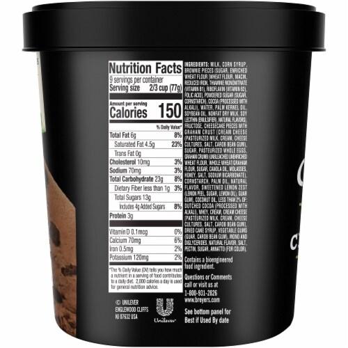 Breyers® Brownie Cheescake Layered Frozen Dairy Dessert Perspective: right