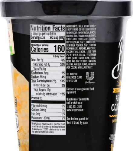 Breyers Limited Edition Peach Cobbler Layered Dessert Perspective: right