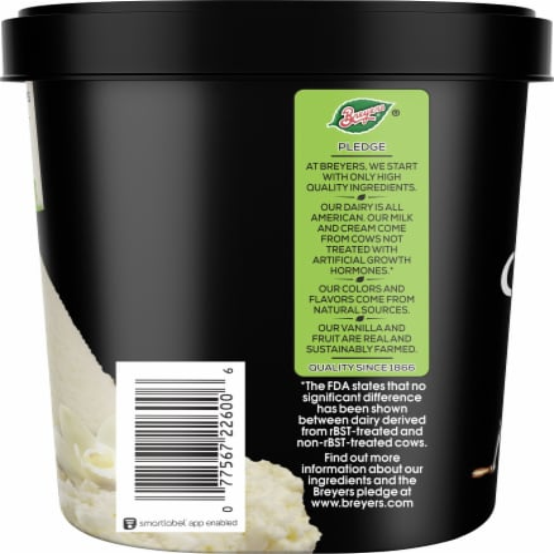Breyers Homemade Vanilla Ice Cream Perspective: right