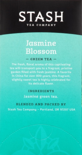 Stash Jasmine Blossom Green Tea Bags 20 Count Perspective: right