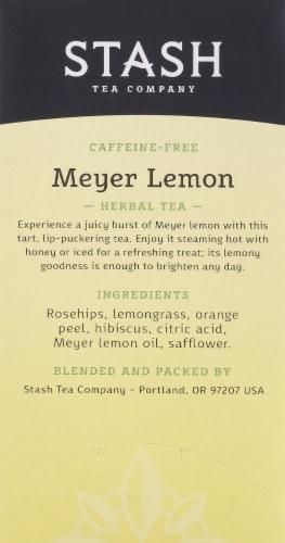 Stash Meyer Lemon Herbal Tea Bags Perspective: right